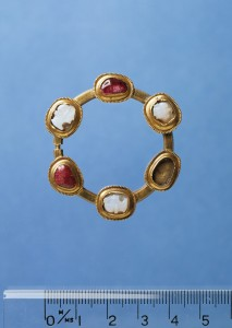 This ring-brooch dates from the fourteenth century and was found at Oxwich castle.